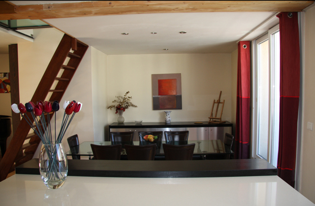 Dining Room view from kitchen bar
