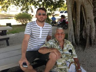 Adam and pap at tarpon bay