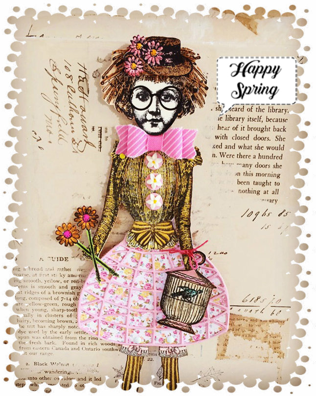 Straw Girl with Happy Spring
