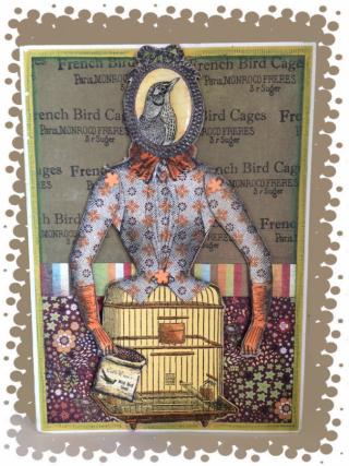 B Day card-framed