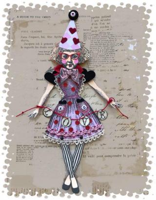 Valentine Doll-framed