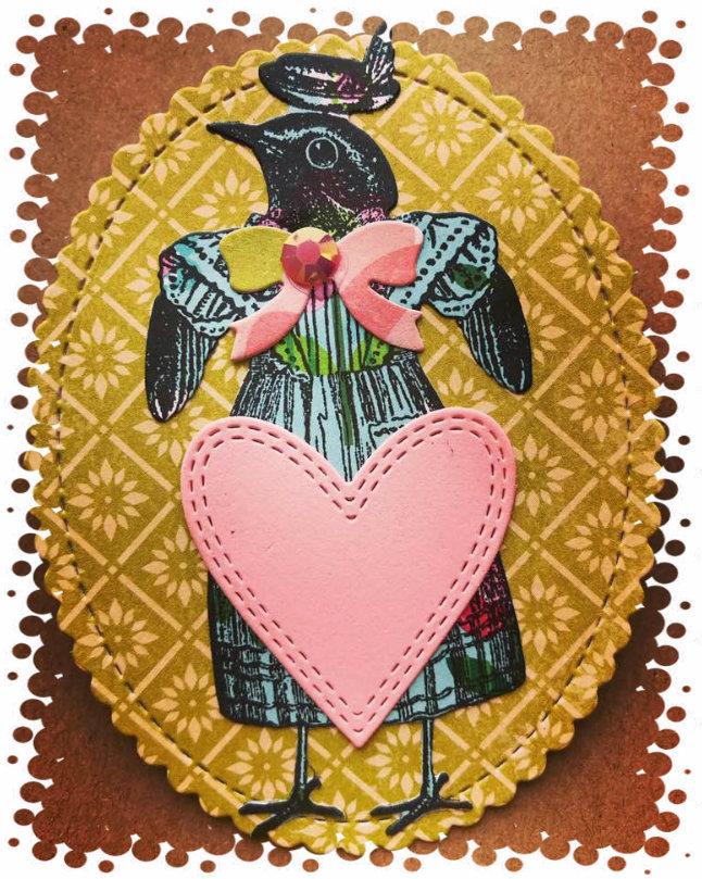 Birdie name tag-framed