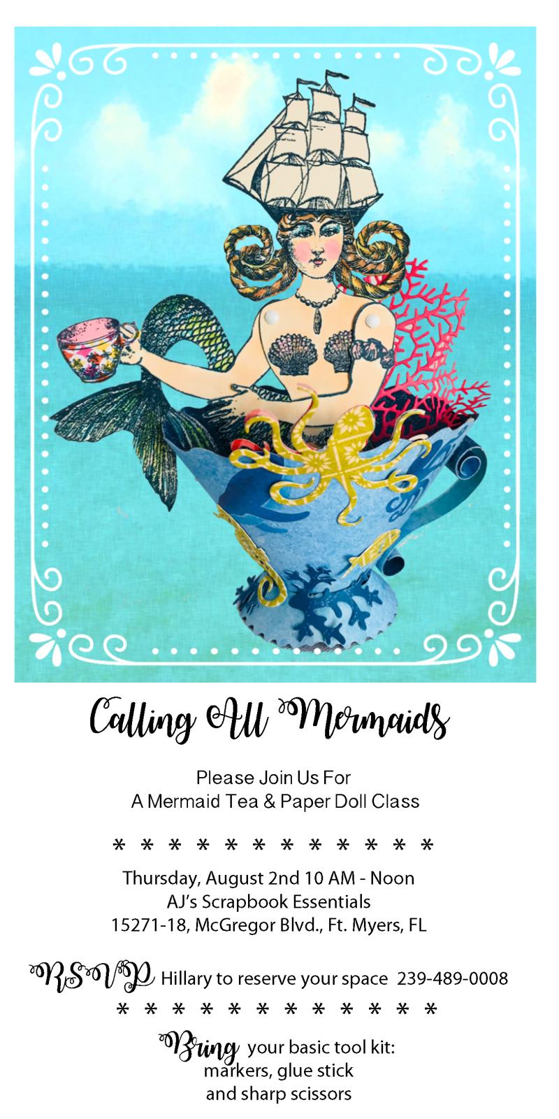 Mermaid Tea Class Announcement